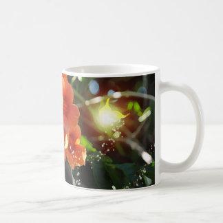 Hada ligera y vid de trompeta floreciente taza
