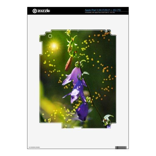 Hada ligera y Wildflower púrpura - estilo del arte iPad 3 Pegatinas Skins