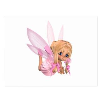 Hada linda de la bailarina de Toon en rosa - Postal