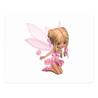 Hada linda de la bailarina de Toon en rosa - Postales