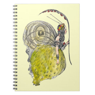 Hada linda de la mariposa de la fantasía del libretas espirales