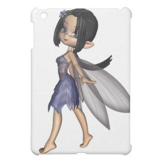 Hada linda de Toon en vestido azul de la flor