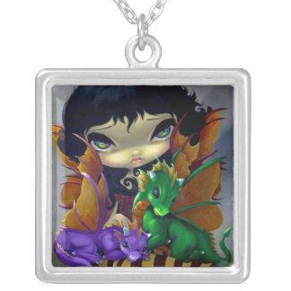 Hada linda del dragón del COLLAR de dos Dragonling
