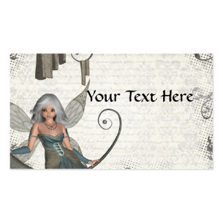 Hada linda del manga tarjetas de visita