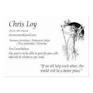 Hada madrina de Chris Loy Tarjetas De Visita Grandes
