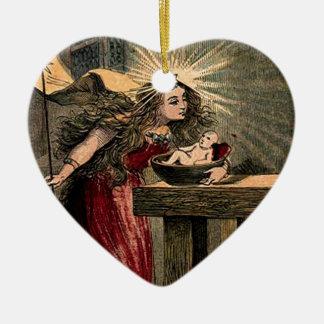 Hada madrina del vintage ornaments para arbol de navidad