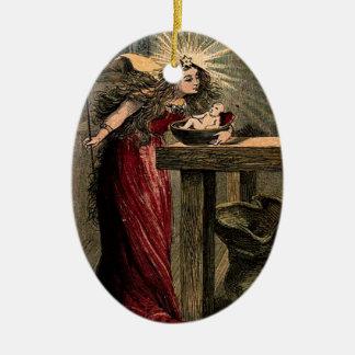Hada madrina del vintage ornamento de reyes magos