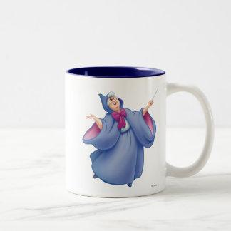 Hada madrina taza de café de dos colores