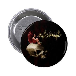 Hada mágica de hadas de Halloween Pin Redondo De 2 Pulgadas