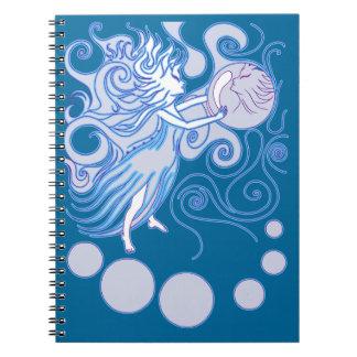Hada mística libro de apuntes con espiral