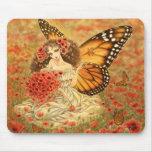 Hada Mousepad de la mariposa de monarca Alfombrillas De Ratones