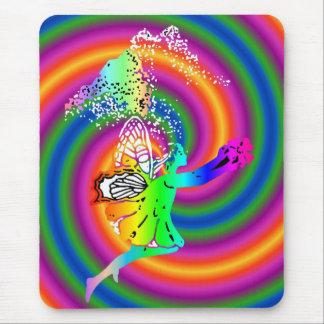 Hada multicolora tapetes de raton