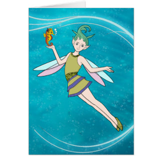 Hada - ninfa de agua felicitación