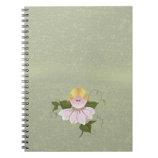 Hada o duendecillo linda cuaderno