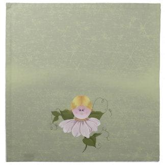 Hada o duendecillo linda servilleta de papel
