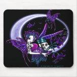 Hada oscura Mousepad de la luna de la flor del arc