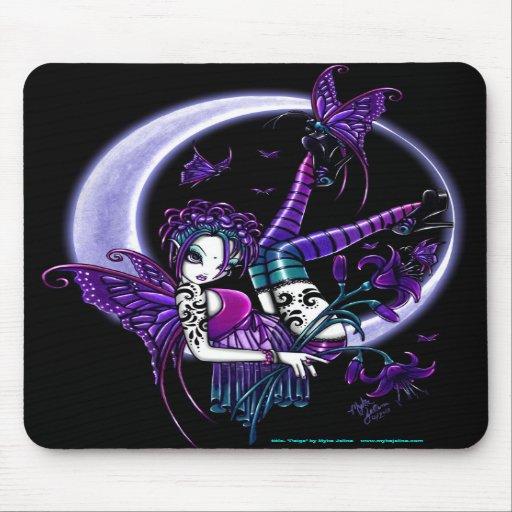 Hada oscura Mousepad de la luna de la flor del arc Alfombrilla De Ratones