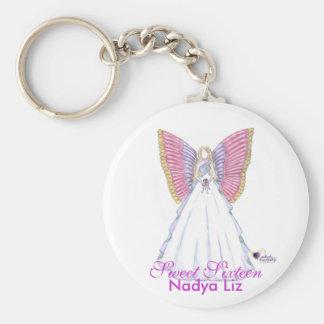 Hada-Personalizar de la mariposa del dulce diecisé Llaveros Personalizados