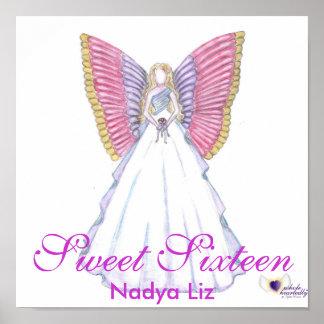Hada-Personalizar de la mariposa del dulce diecisé Impresiones