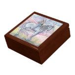 Hada preciosa y caja de madera de la baratija del joyero cuadrado grande