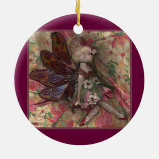 Hada presionada adorno redondo de cerámica