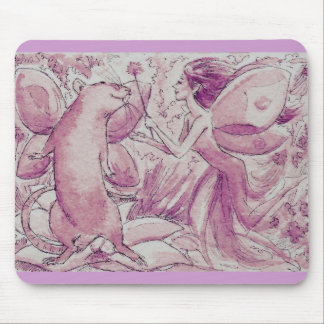 Hada púrpura de la rata alfombrilla de ratones