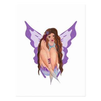 hada púrpura del ciruelo tarjetas postales