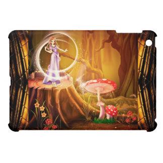 Hada púrpura en caso del ipad de la escena de la f iPad mini protector
