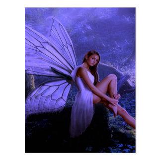 Hada púrpura tarjetas postales