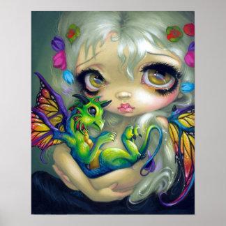 Hada querida del dragón de la IMPRESIÓN del ARTE d Impresiones