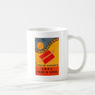 Hada retra del vuelo del petardo del kitsch del vi taza de café