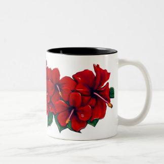 Hada roja de Tiki del hibisco Tazas