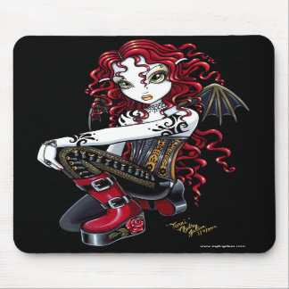 Hada roja Mousepad del tatuaje de Terri