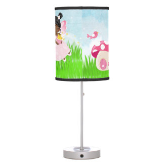 Hada rosada adorable lámpara de escritorio