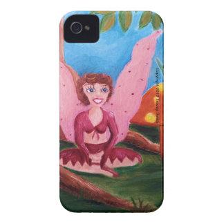 Hada rosada con la seta anaranjada Case-Mate iPhone 4 coberturas