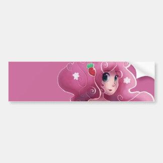 Hada rosada de la fresa etiqueta de parachoque