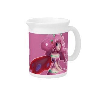 Hada rosada de la fresa jarras para bebida