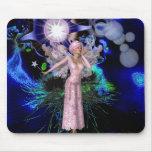 Hada rosada mágica del arte de la fantasía de Mous Tapete De Raton