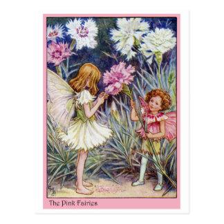 Hada rosada postales