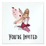 Hada rubia de la tarjeta del día de San Valentín - Invitación 13,3 Cm X 13,3cm
