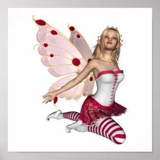 Hada rubia de la tarjeta del día de San Valentín - Posters