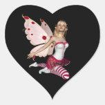 Hada rubia de la tarjeta del día de San Valentín - Pegatina En Forma De Corazón