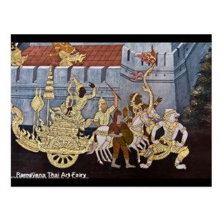 Hada tailandesa del arte de Ramayana Postales
