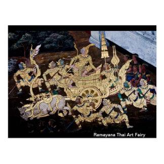 Hada tailandesa del arte de Ramayana Postal
