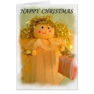 Hada, tarjeta de las felices Navidad,