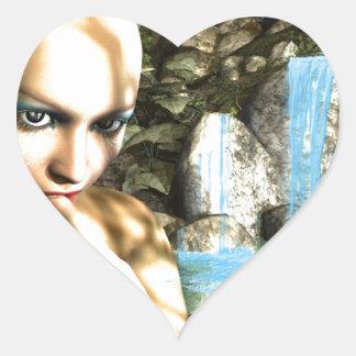Hada traviesa pegatina en forma de corazón