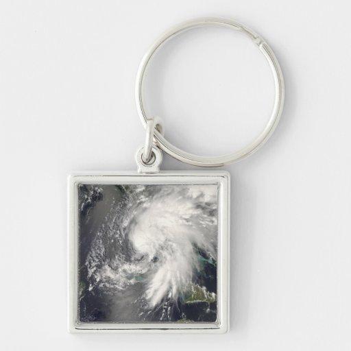 Hada tropical 2 de la tormenta llavero cuadrado plateado
