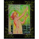 Hada única del verde del ajenjo del vintage esculturas fotograficas