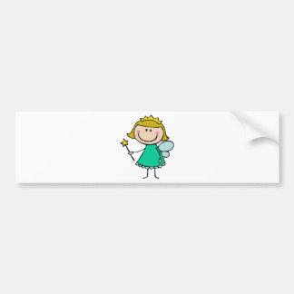 Hada verde etiqueta de parachoque