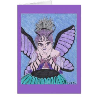 Hada violeta tarjeta pequeña